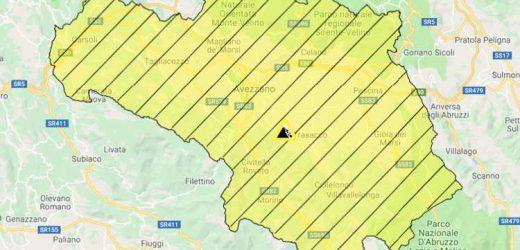 Allerta Meteo Abruzzo: rischio idrogeologico codice Giallo per temporali oggi 29 aprile